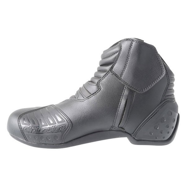 Alpinestars S-MX 1.1 Short Black Motorcycle Boots Inside leg