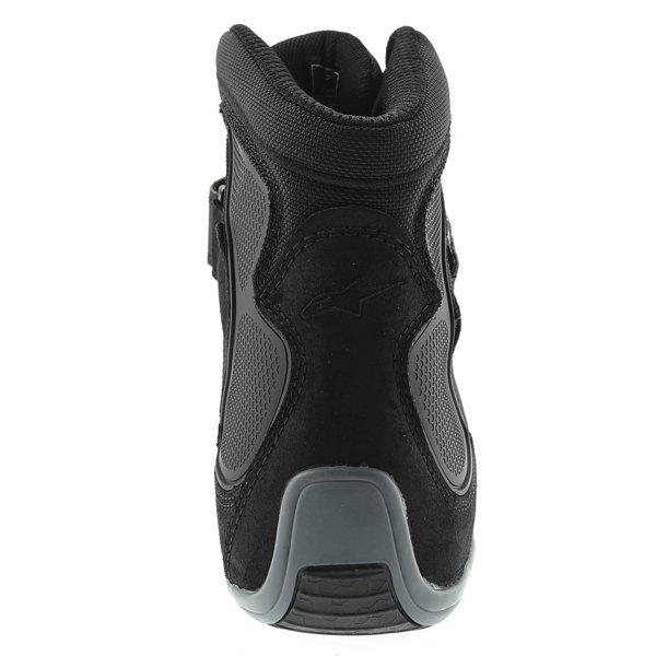 Alpinestars Fastback Waterproof Black White Gray Motorcycle Shoes Heel