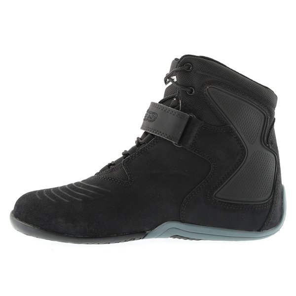 Alpinestars Fastback Waterproof Black White Gray Motorcycle Shoes Inside leg