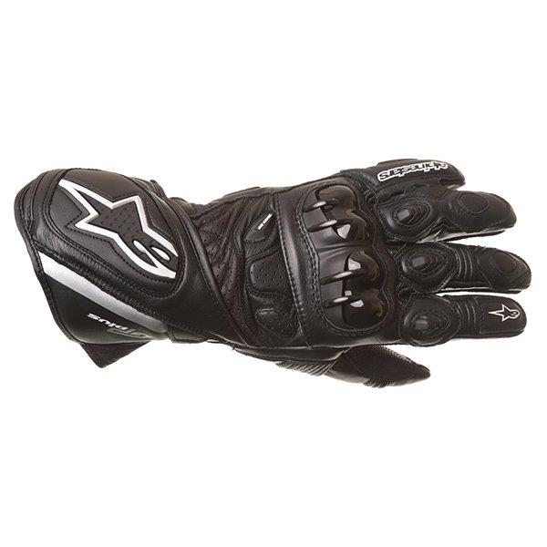 Alpinestars GP Plus Black Motorcycle Gloves Back