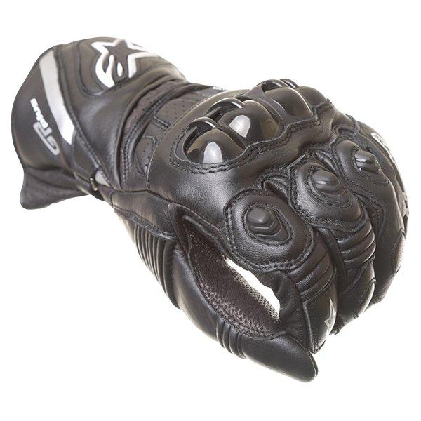 Alpinestars GP Plus Black Motorcycle Gloves Knuckle
