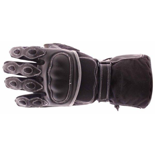 Frank Thomas 502 R Black Motorcycle Gloves Back