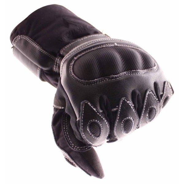 Frank Thomas 502 R Black Motorcycle Gloves Knuckle