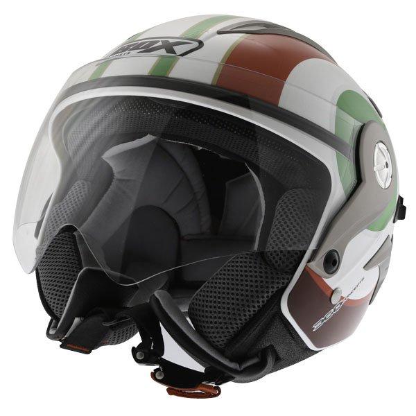 Box JZ-1 Urban Italia Open Face Motorcycle Helmet Front Left