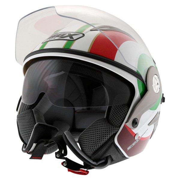 Box JZ-1 Urban Italia Open Face Motorcycle Helmet With Sun Visor