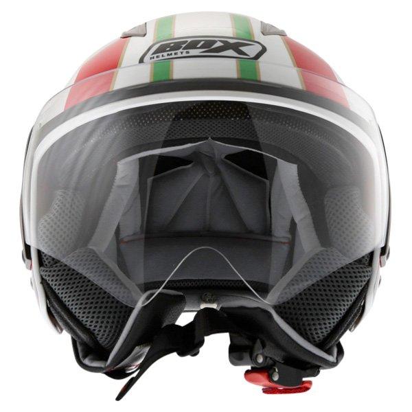 Box JZ-1 Urban Italia Open Face Motorcycle Helmet Front