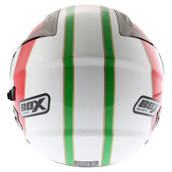 Box JZ-1 Urban Italia Open Face Motorcycle Helmet Back