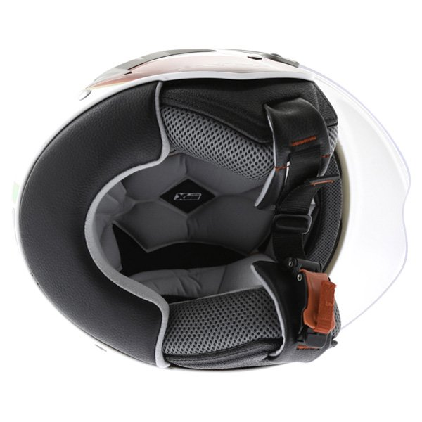 Box JZ-1 Urban Italia Open Face Motorcycle Helmet Inside