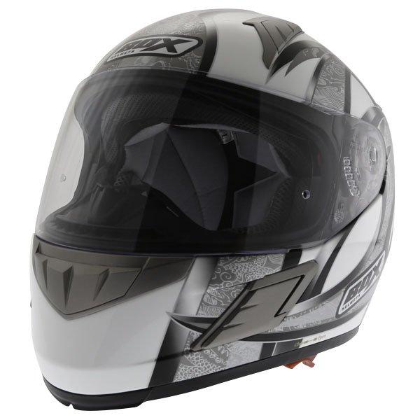 Box BZ-1 Dragon Black MC-5 Full Face Motorcycle Helmet Front Left