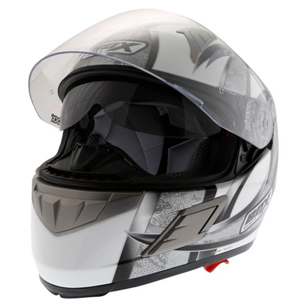 Box BZ-1 Dragon Black MC-5 Full Face Motorcycle Helmet Open With Sun Visor