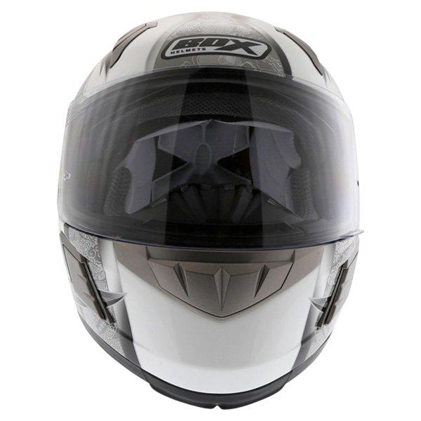 Box BZ-1 Dragon Black MC-5 Full Face Motorcycle Helmet Front