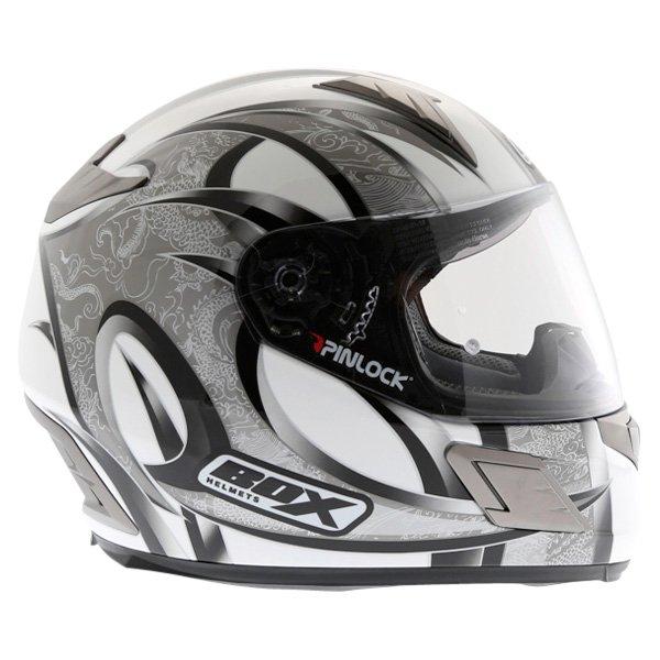 Box BZ-1 Dragon Black MC-5 Full Face Motorcycle Helmet Right Side