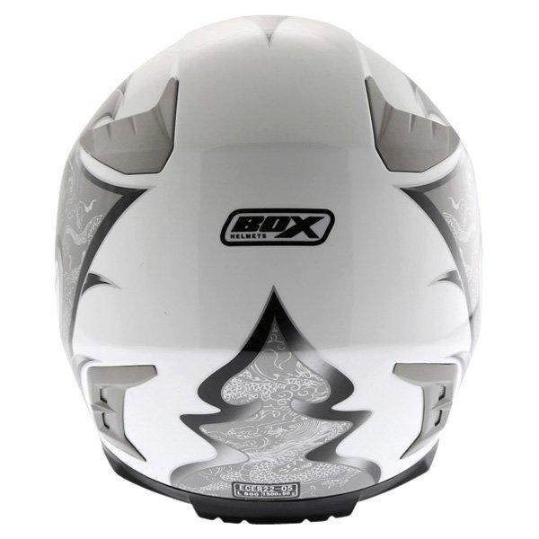 Box BZ-1 Dragon Black MC-5 Full Face Motorcycle Helmet Back