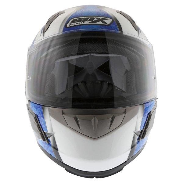 Box BZ-1 Dragon Blue MC-2 Full Face Motorcycle Helmet Front