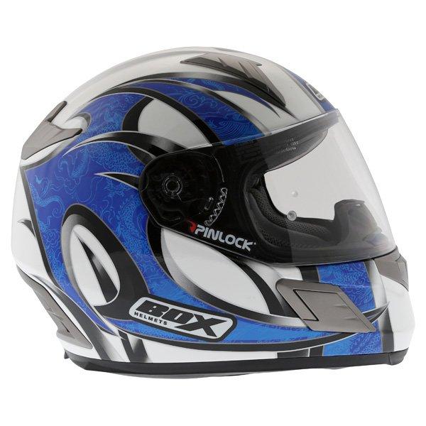 Box BZ-1 Dragon Blue MC-2 Full Face Motorcycle Helmet Right Side