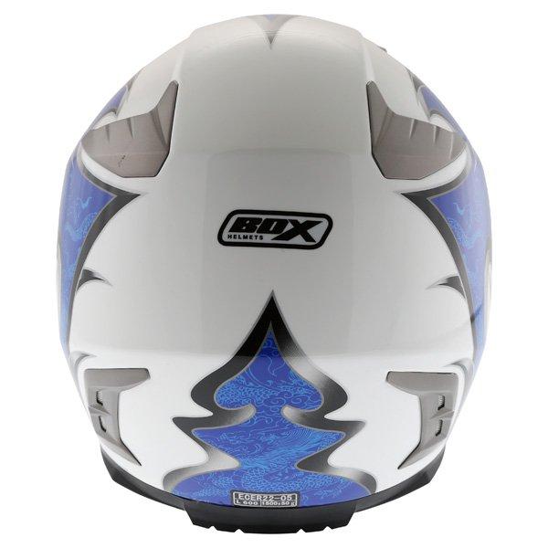 Box BZ-1 Dragon Blue MC-2 Full Face Motorcycle Helmet Back