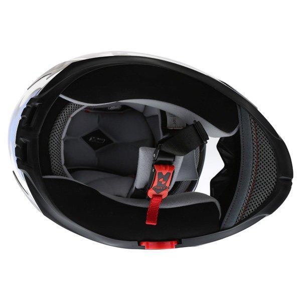 Box BZ-1 Dragon Blue MC-2 Full Face Motorcycle Helmet Inside