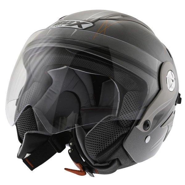 Box JZ-1 Hotrod Open Face Motorcycle Helmet Front Left