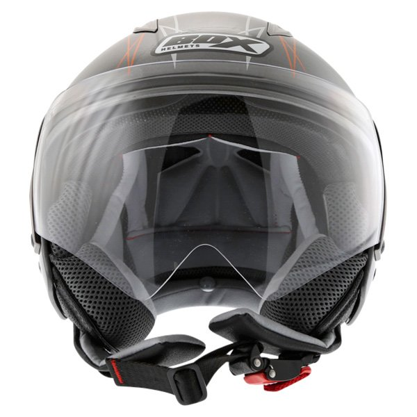 Box JZ-1 Hotrod Open Face Motorcycle Helmet Front