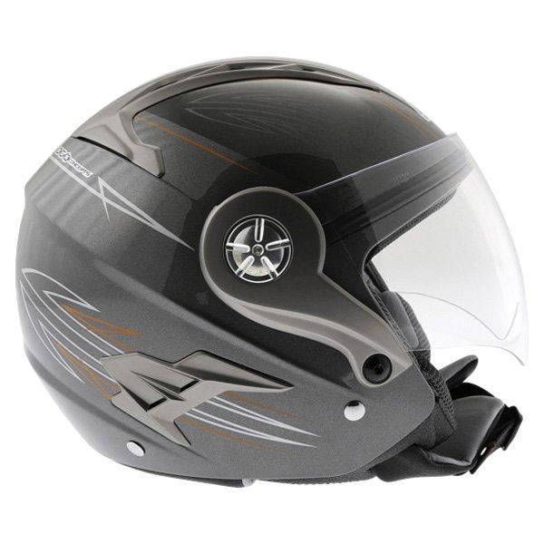 Box JZ-1 Hotrod Open Face Motorcycle Helmet Right Side