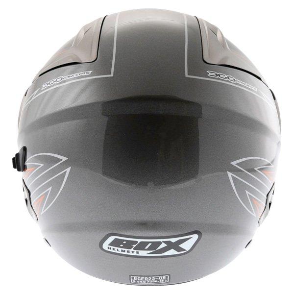 Box JZ-1 Hotrod Open Face Motorcycle Helmet Back