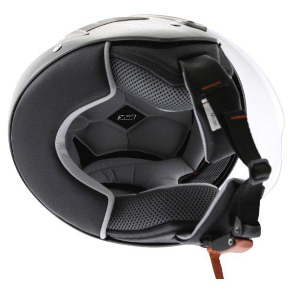 Box JZ-1 Hotrod Open Face Motorcycle Helmet Inside