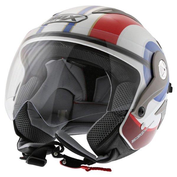Box JZ-1 Urban Target Open Face Motorcycle Helmet Front Left