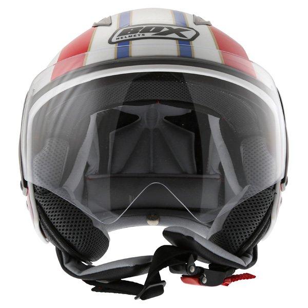 Box JZ-1 Urban Target Open Face Motorcycle Helmet Front