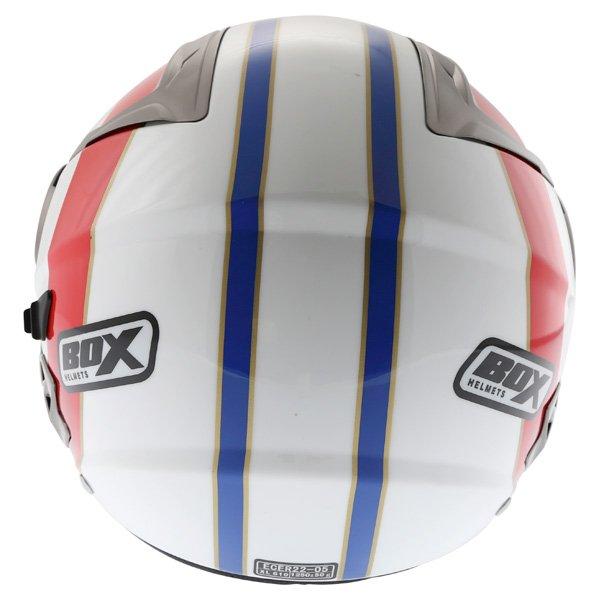 Box JZ-1 Urban Target Open Face Motorcycle Helmet Back