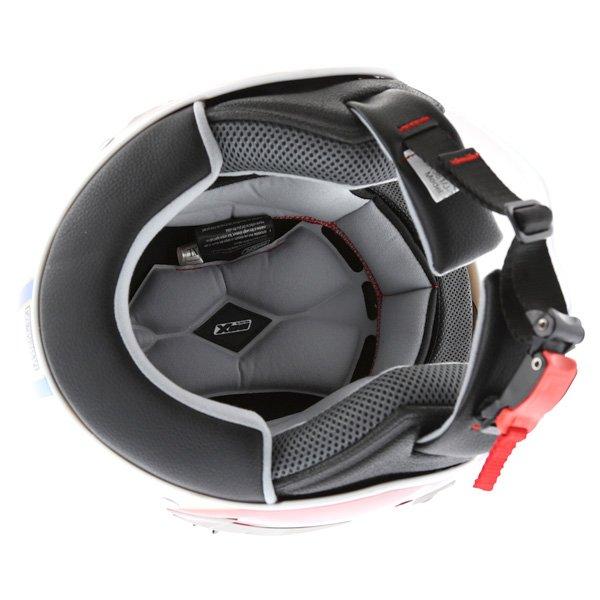 Box JZ-1 Urban Target Open Face Motorcycle Helmet Inside