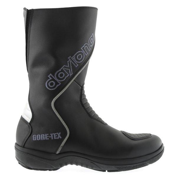 Daytona Gator Goretex Black Waterproof Motorcycle Boots Outside leg