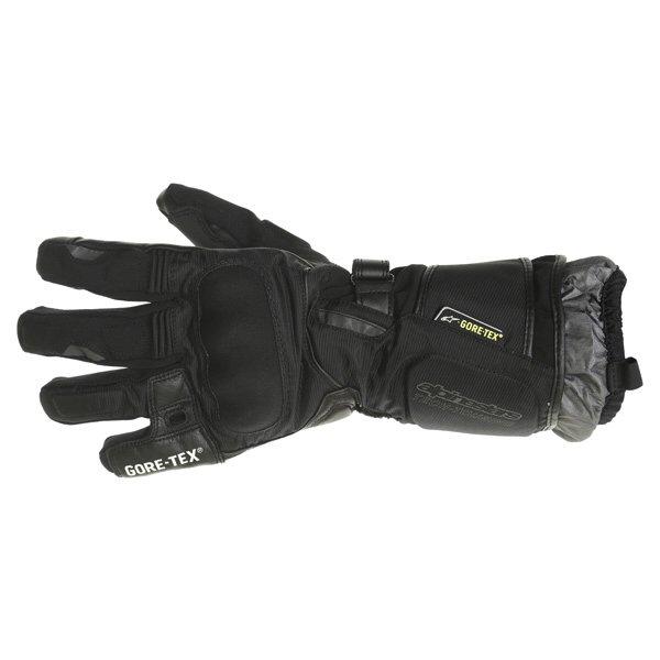 Alpinestars Jet Road GoreTex Black Waterproof Motorcycle Gloves Back