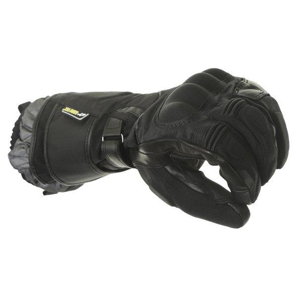 Alpinestars Jet Road GoreTex Black Waterproof Motorcycle Gloves Knuckle