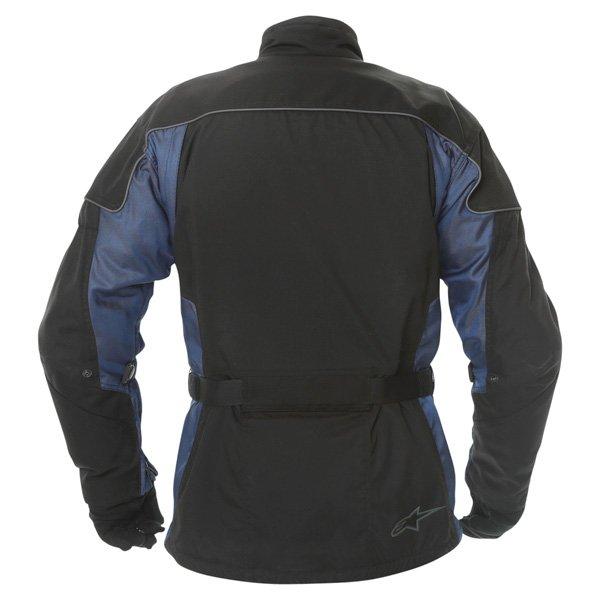 Alpinestars Space Drystar Mens Black Blue Waterproof Textile Motorcycle Jacket Back