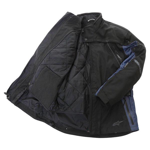 Alpinestars Space Drystar Mens Black Blue Waterproof Textile Motorcycle Jacket Inside