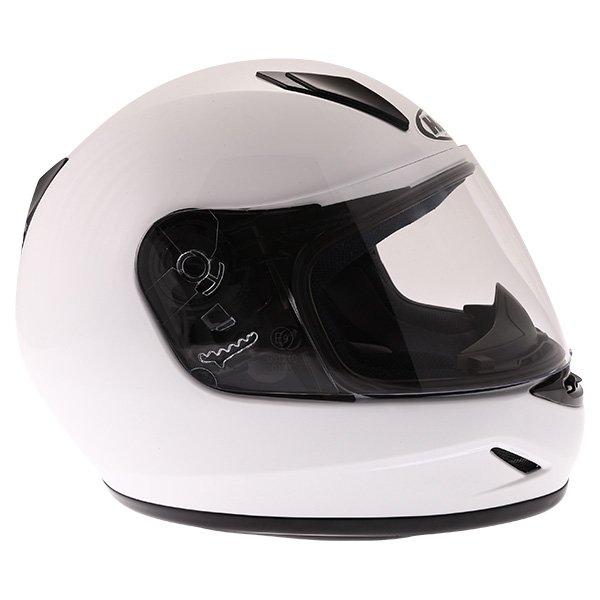 HJC CL-Y White Ladies Full Face Motorcycle Helmet Right Side