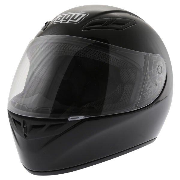 AGV K4 Evo Mono Black Full Face Motorcycle Helmet Front Left