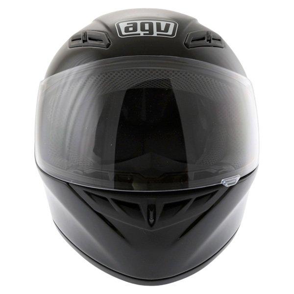 AGV K4 Evo Mono Black Full Face Motorcycle Helmet Front