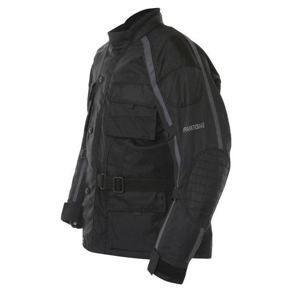 Frank Thomas George Mens Black Textile Motorcycle Jacket Side