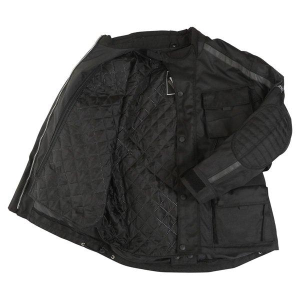 Frank Thomas George Mens Black Textile Motorcycle Jacket Inside