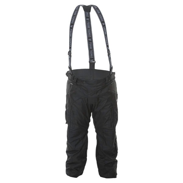 Frank Thomas George 1025 Mens Black Textile Motorcycle Pants Front
