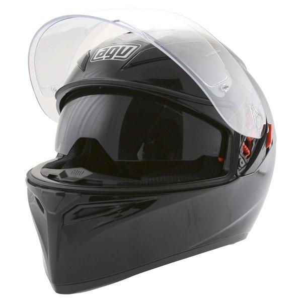AGV K3 SV Black Full Face Motorcycle Helmet Open With Sun Visor