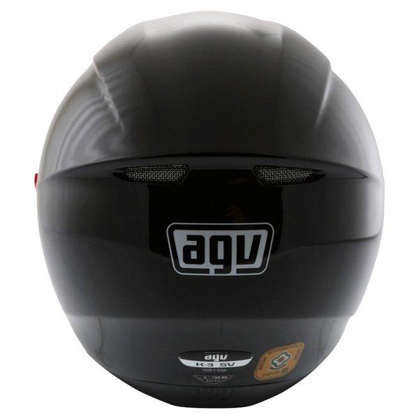 AGV K3 SV Black Full Face Motorcycle Helmet Back
