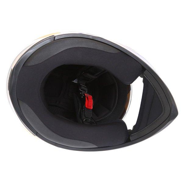 AGV K3 SV Vulcan White Black Blue Full Face Motorcycle Helmet Inside