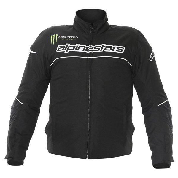 Alpinestars Boost Mens Black White Textile Motorcycle Jacket Front