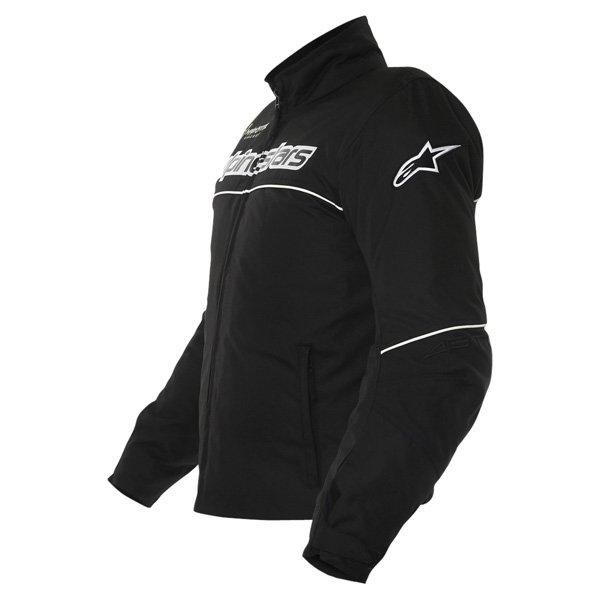 Alpinestars Boost Mens Black White Textile Motorcycle Jacket Side