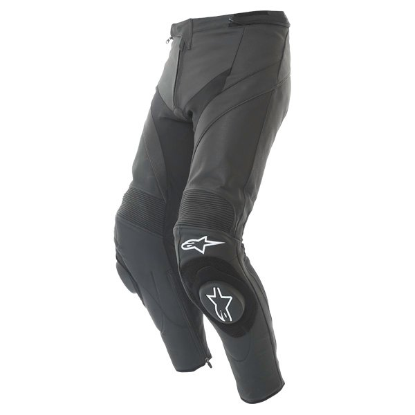 Alpinestars Missile Black Leather Motorcycle Jeans Riding crouch