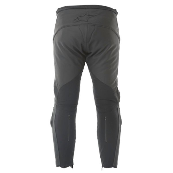 Alpinestars Missile Black Leather Motorcycle Jeans Rear