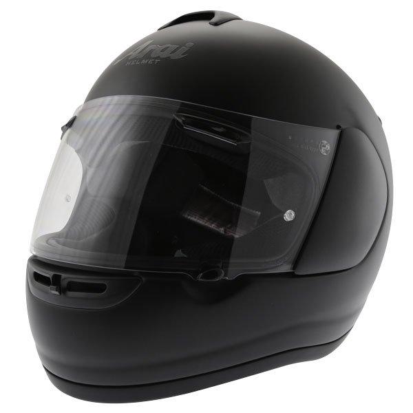 Arai Axces II Frost Black Full Face Motorcycle Helmet Front Left