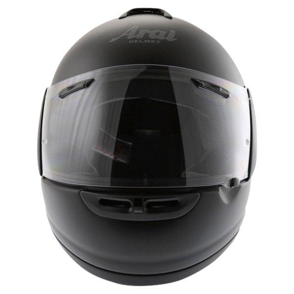 Arai Axces II Frost Black Full Face Motorcycle Helmet Front